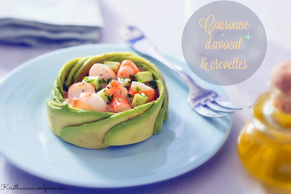 Couronne d avocat crevettes krist 39 l cuisine for Platillos franceses faciles